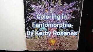 Coloring In | Fantomorphia | With Prisma + Soft Pastels + Posco + Gel Pens