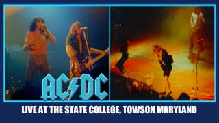 AC/DC Shot Down In Flames LIVE: At The State College Towson Maryland October 16, 1979  HD