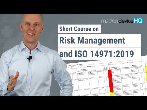 Risk management for medical devices and ISO 14971 - Online introductory course