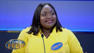 Triple points? Can this celeb team take advantage of some BIG COMBOS | Family Feud Ghana