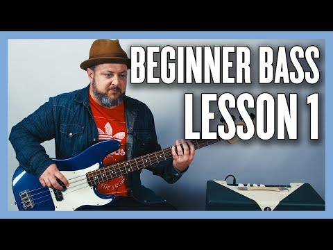 Beginner Bass Lesson 1 - Your Very First Bass Lesson