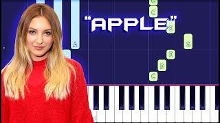 Julia Michaels - Apple Piano Tutorial EASY (Piano Cover)