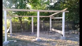 Budowa drewutni wiaty na drzewo -  zrób to sam 2014