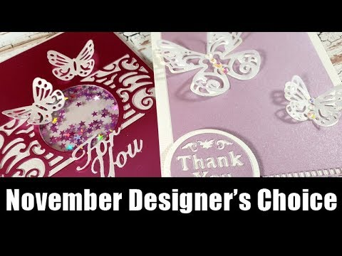 Cards with butterflies | Tonic Studios - November Designer's Choice
