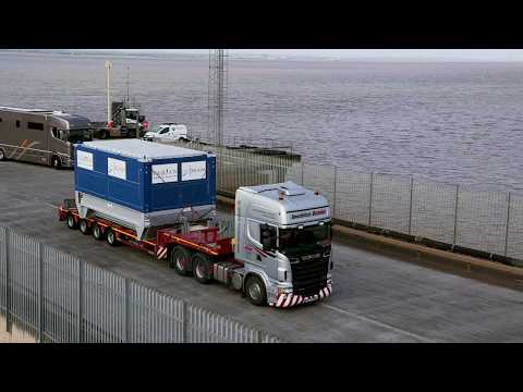 A video showing the delivery of the cyclotron for proton beam therapy at The Christie.