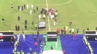 خناقة بين لاعبي الأهلي والاتحاد عقب انتهاء المباراة