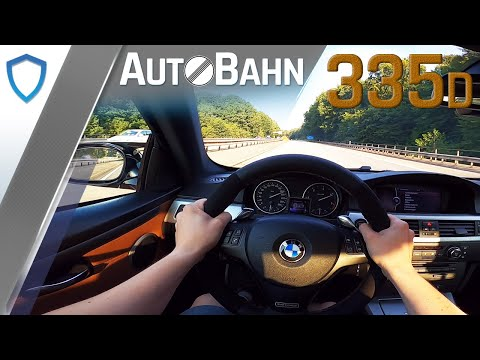BMW E92 335d (Stage 1) - TOP SPEED - GPS 100-200 km/h - AUTOBAHN POV
