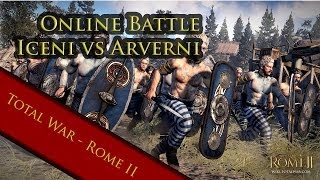 total war Rome 2 Iceni vs Arverni open battle online Patch 12