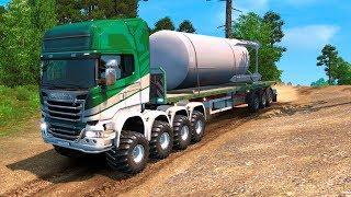 Сложная и Опасная Дорога бросает Вызов - Euro Truck Simulator 2