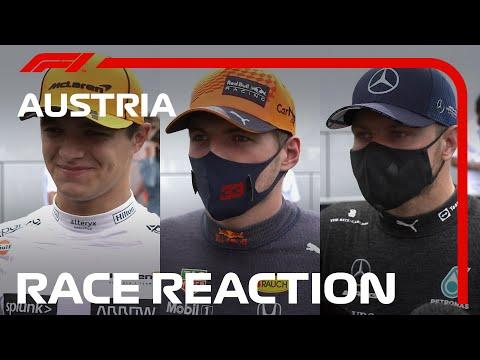 決勝レース後のドライバーインタビュー動画 F1第9戦オーストリアGP