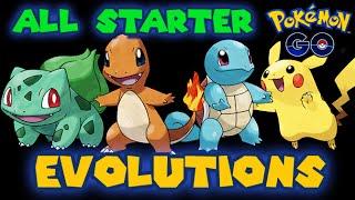 All Starter Pokemon Evolutions (Pokemon Go)