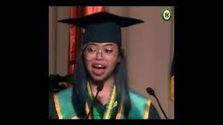 "Major in English valedictory address ""Lang?"" - Mariyela Mari Gonzales Hugo, Cum Laude, BSED"