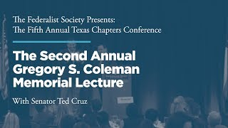 Click to play: Second Annual Gregory S. Coleman Memorial Lecture & Luncheon