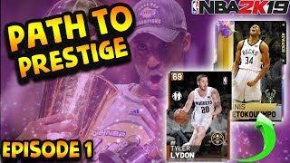 UPGRADING A BUDGET SQUAD INTO A GALAXY OPAL GOAT SQUAD! NBA 2K19 Path to Prestige #1