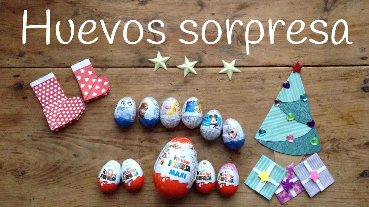 Huevos Kinder Sorpresa en español: Huevos Kinder Navidad