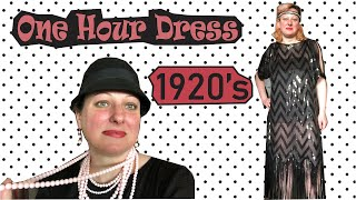 1920s One Hour Dress -Roaring Twenties - How To Make A Flapper Dress