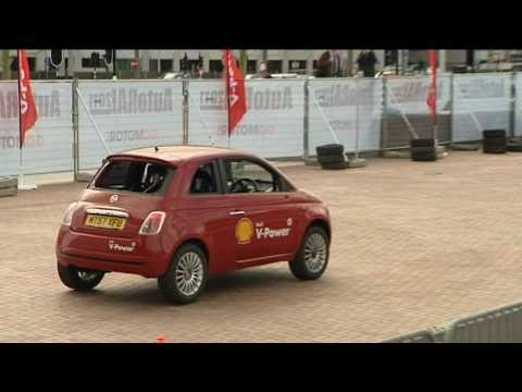 Gravity-Defying Fiat 500 Does A Complete Vertical Loop