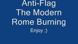 Anti-flag The Modern Rome Burning W / Lyrics