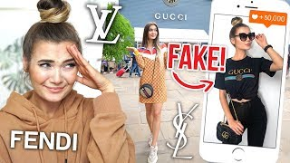 I WORE FAKE DESIGNER CLOTHING FOR A WEEK... *EMBARRASSING*