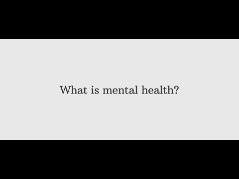 What is Mental Health<br />Exploring the importance of recognising Mental Health in yourself and in others.