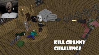 Monster School : KILL GRANNY CHALLENGE - Minecraft Animation