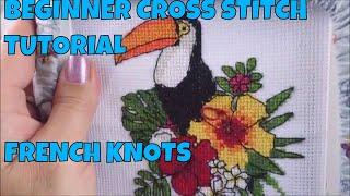 Beginner Cross Stitch Tutorial - French Knots