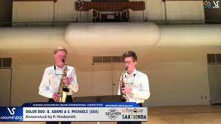 DOLOR DUO B. ADAMS & S. MICHAELS play Konzerstuck by P. Hindemith #adolphesax