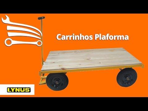 Carro Plataforma com Plataforma de Madeira 600Kg - Video