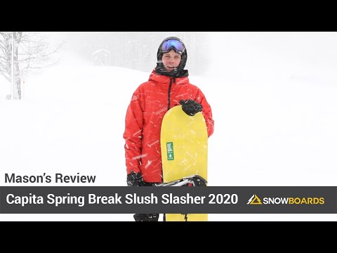 Video: Capita Spring Break Slush Slasher Snowboard 2020 15 50