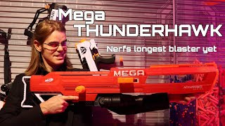 NERF Review: Nerf's Mega THUNDERHAWK (Longest Blaster Ever)