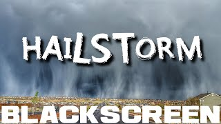 Rain and Hail Thunderstorm Black Screen Sleep Study Relaxing Meditation Rain Sounds