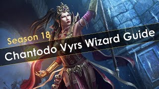 Diablo 3 Season 18 Chantodo Vyrs Wizard T16 Speed and Greater Rift Guide