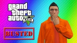 GTA 5 Online Funny Moments Prison Edition (Giant Tunnel, Prison Bath, Escape!)
