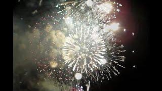 西枇杷島花火大会2016雨の中の花火/穴場スポットより