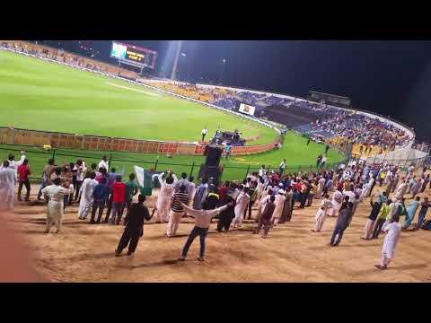 PAK-SL T20 2nd Mach opening ceremony . rahim shah in abudhabi
