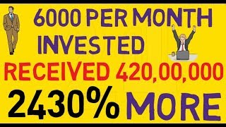 Invest Rs.6000 Per Month And Get 4.2 crore plus Rs. How to invest in Sip