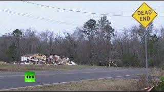STEEL - Последствия разрушительного торнадо в США, жертвами которого стали не менее 18 человек