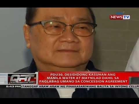 [GMA]  QRT: PDu30, desididong kasuhan ang Manila Water at Maynilad dahil sa paglabag…