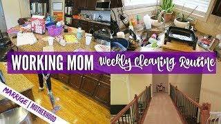 Cleaning Schedule For Working Moms That HATE CLEANING | Cleaning Motivation | Speed Clean With Me