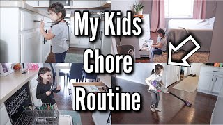 MY KIDS DO CHORES?! | AGE APPROPRIATE CHORES FOR 3 YEAR OLDS & 5 YEAR OLDS
