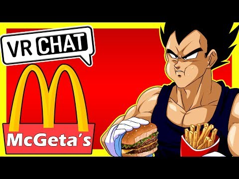 """Welcome To McGeta's"" Vegeta Plays VR Chat"