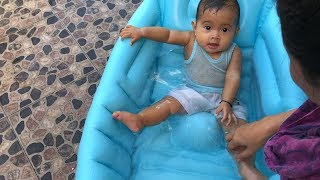 Unboxing Kolam Anak Bayi Mandi Lucu Warna Biru - Cute Baby Bath Time