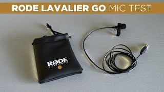 Is the RODE LAVALIER GO Mic Worth It? | Audio Test