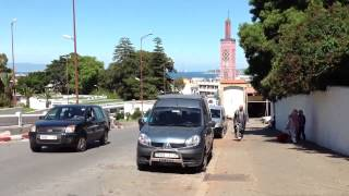 preview picture of video 'The minaret of the mosque of the Grand Socco in Tangier'