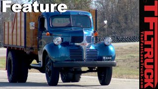 We Drive The GrandDaddy Of Heavy Duty Trucks -1947 Dodge Truck On The Road
