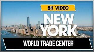 8K 360 VR Video One World Trade Center Memorial Daytime New York Downtown 2018 USA NYC 4k