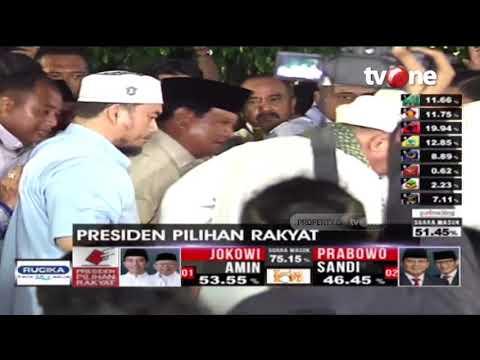 Detik-detik Prabowo Sujud Syukur