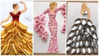 Beautifull & Stylish Dresses Design Sketches For Girls/ Amazing Fashion Designing