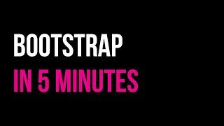 Learn Bootstrap in 5 minutes | Responsive Website Tutorial | Code in 5