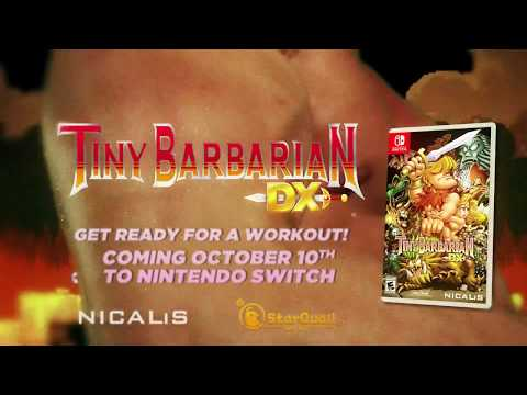 Tiny Barbarian DX Nintendo Switch Release Date Announcement Trailer thumbnail
